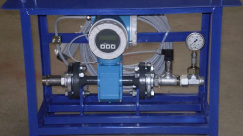 Microtunneling bentonite stand alone flowmeter and pressuresensor Herrenknecht Down2earth 1