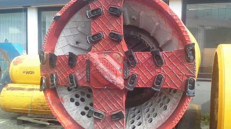 Microtunneling standard cutting wheel AVN1200 X Herrenknecht Down2earth